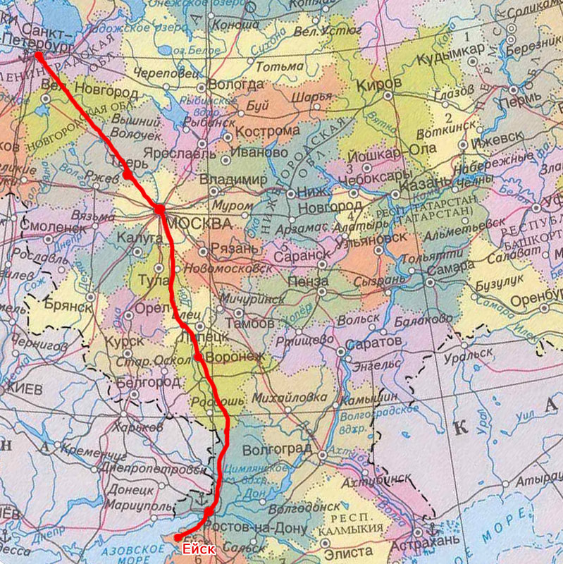 Карта проезда на авто СПб